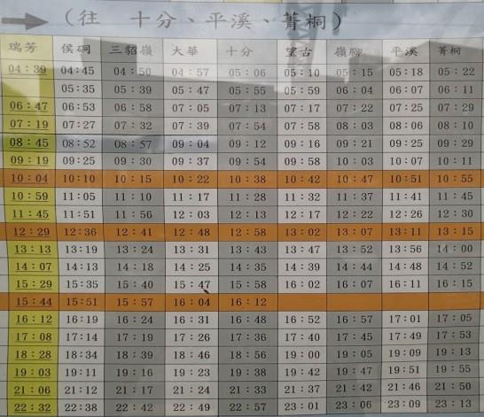 平渓線時刻表