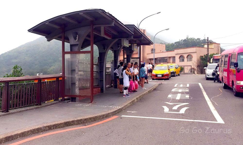 瑞芳駅に帰る時のバス停