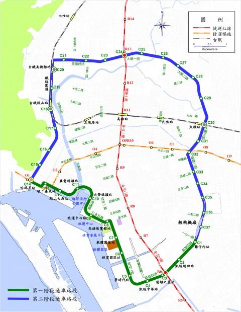 LRT全線完成図