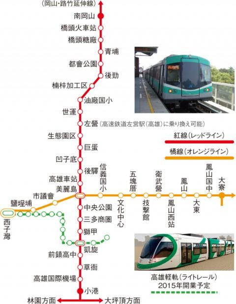 MRT・ライトレール路線図