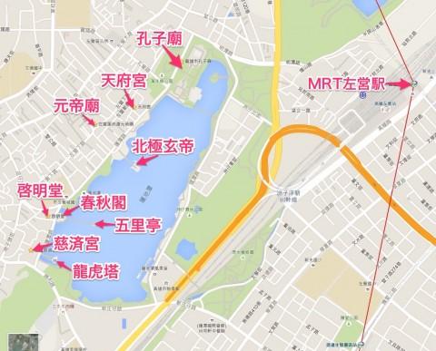 蓮池潭観光地図