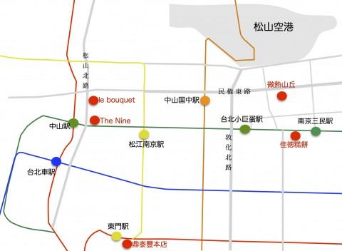 鳳梨酥店舗地図