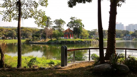 孔子廟 池