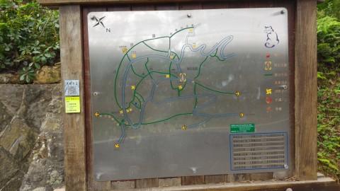 樟樹歩道・樟湖步道案内地図