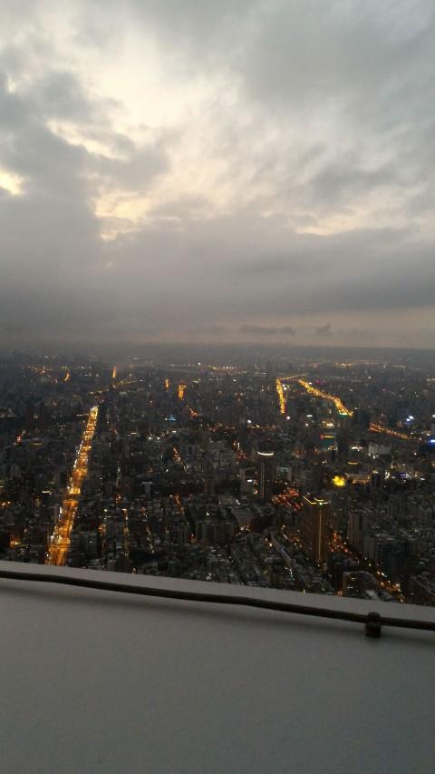 台北101 91階からの景色