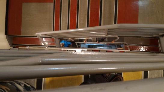 台北101 89階から階段の下を見る