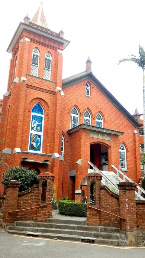 淡水教会正面