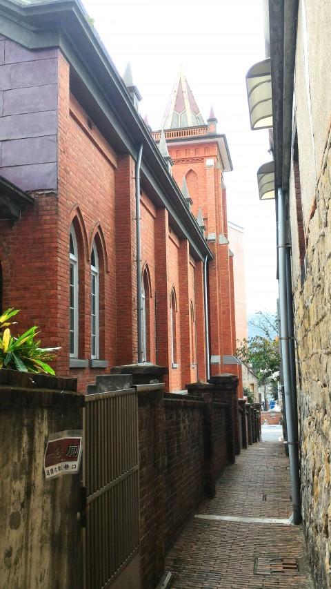 淡水教会横の道