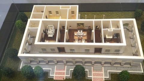 小白宮建物内部模型