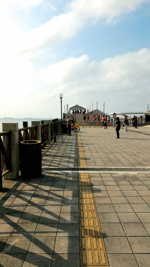 淡水 漁人碼頭 散歩道手前