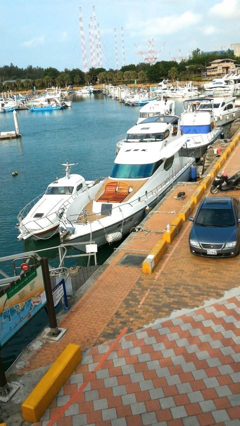 淡水 漁人碼頭 停泊中の船