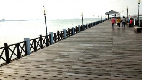 淡水 漁人碼頭の木製散歩道2