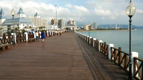 淡水 漁人碼頭の木製散歩道