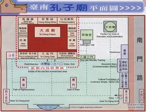 台南孔子廟平面図