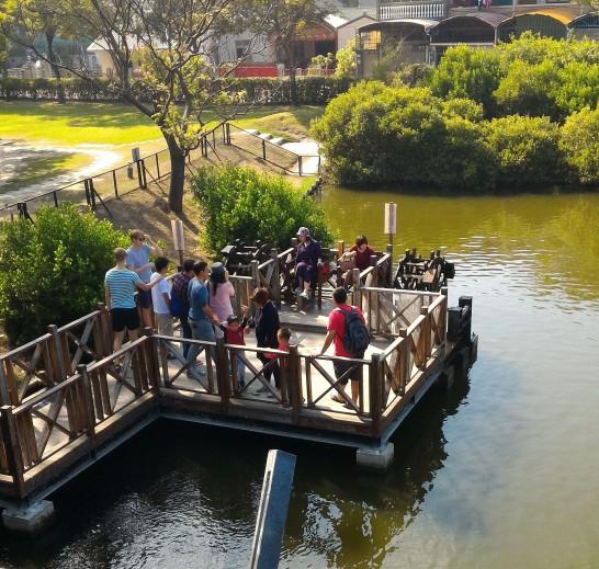 安平樹屋足漕ぎ水車