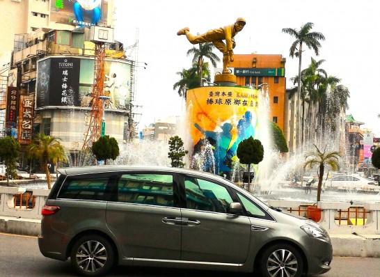噴水広場と呉明捷投手2