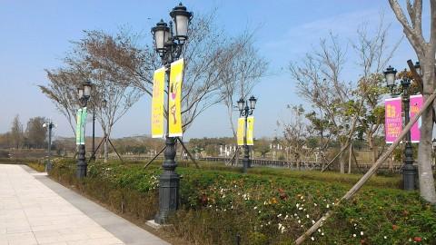 ミューズ広場横の街灯