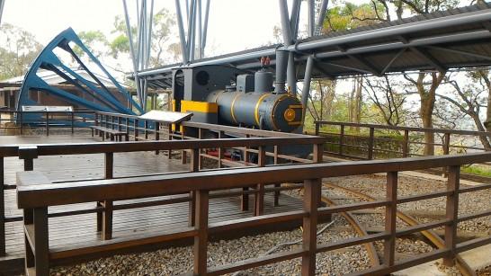 ダム建設に貢献した蒸気機関車