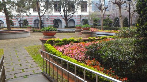 総統府の中庭