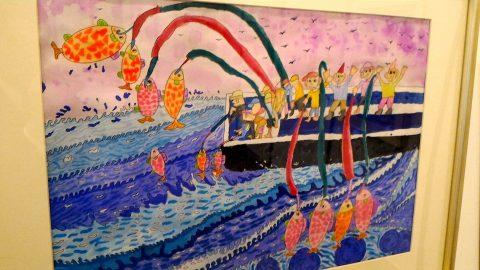 子たちの絵画「大魚」