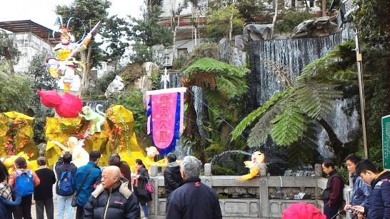 龍山寺の有名な滝