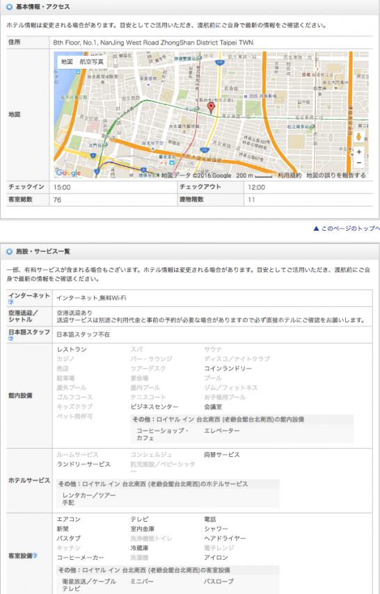 地図と施設