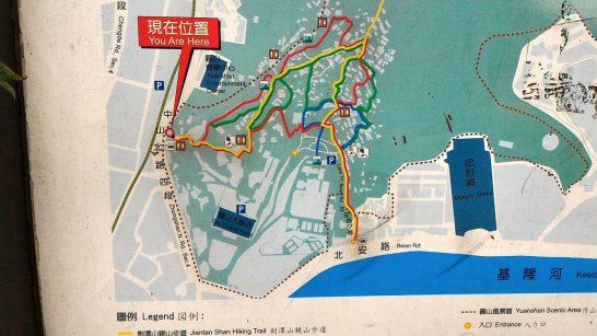 圓山風景区案内図