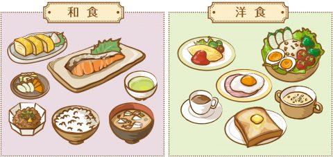 和食と洋食
