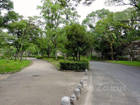 京橋口から入った、西の丸北側の広場