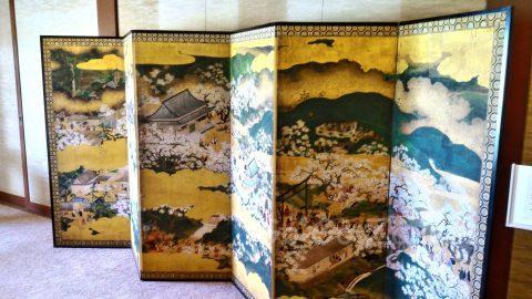 大阪迎賓館内、屏風