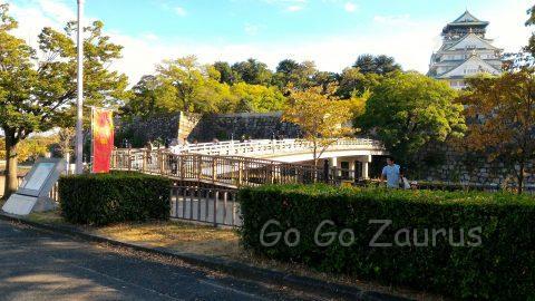 大阪城公園極楽橋と天守閣