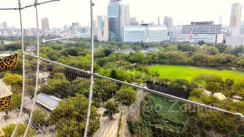 大阪城天守閣展望台からの風景2