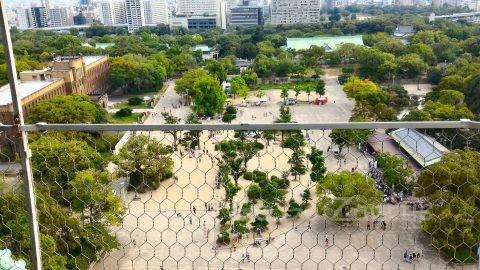 大阪城天守閣展望台からの風景3