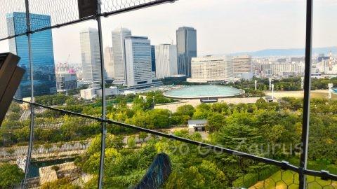 大阪城天守閣展望台からの風景4
