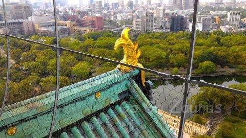大阪城天守閣展望台からの風景6