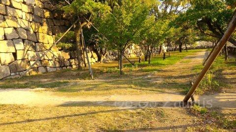 大阪城本丸北西側の隠し曲輪