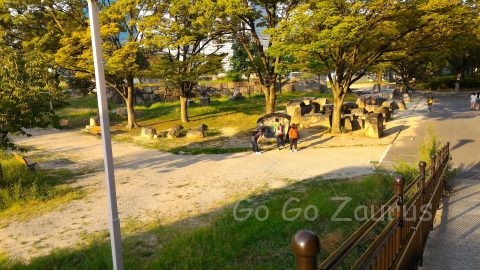 大阪城本丸北側 刻印石広場