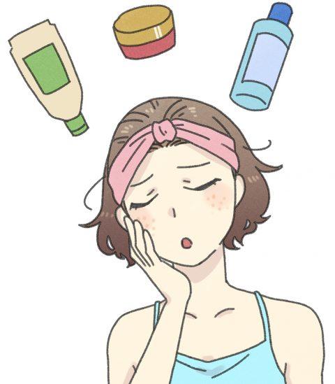 肌荒れと化粧品