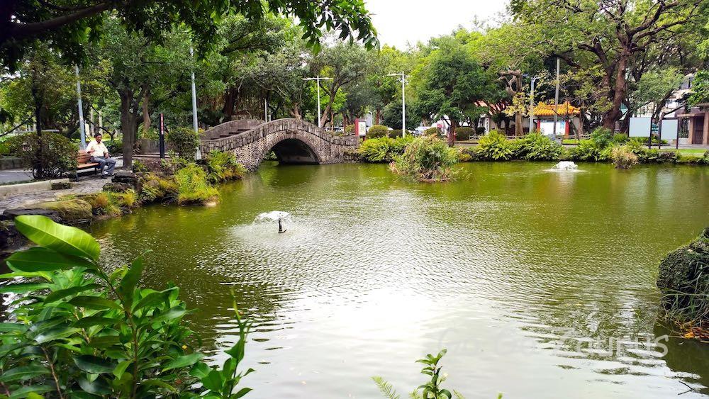 国立台湾博物館の美しい庭園