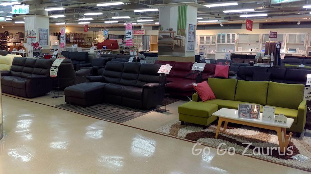 家具売り場の一部
