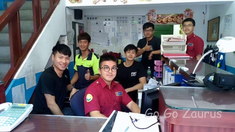新竹市消防署員の皆さん