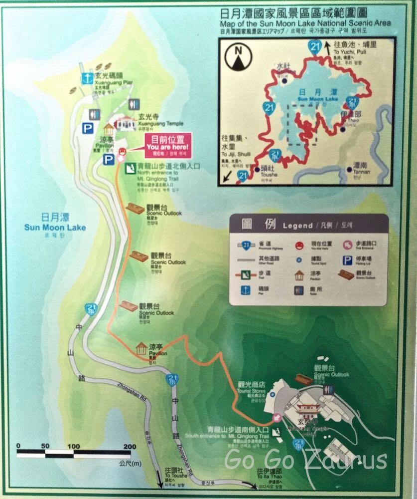 青龍山步道近辺地図
