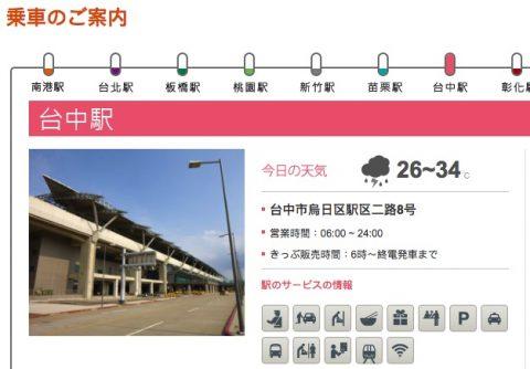 高鉄台中駅平面図