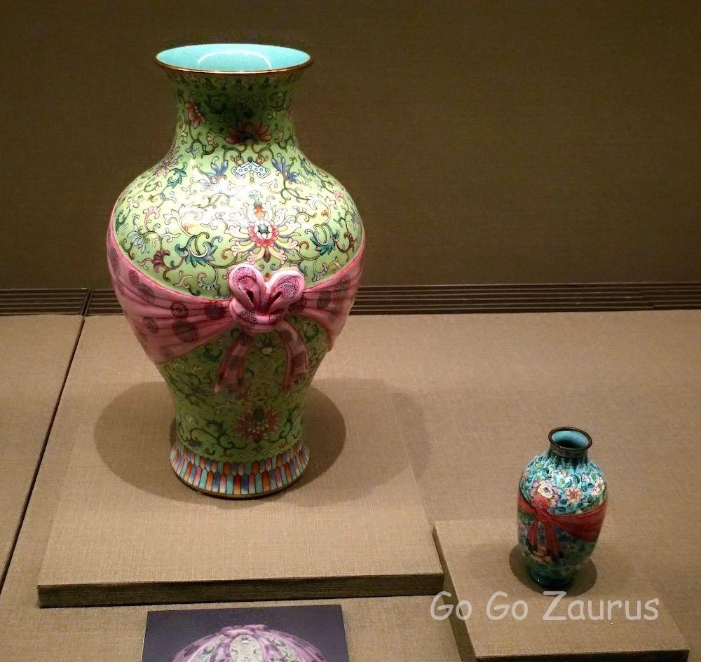 清 嘉慶帝時代の壺