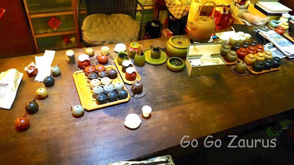 沈さん考案の茶道具