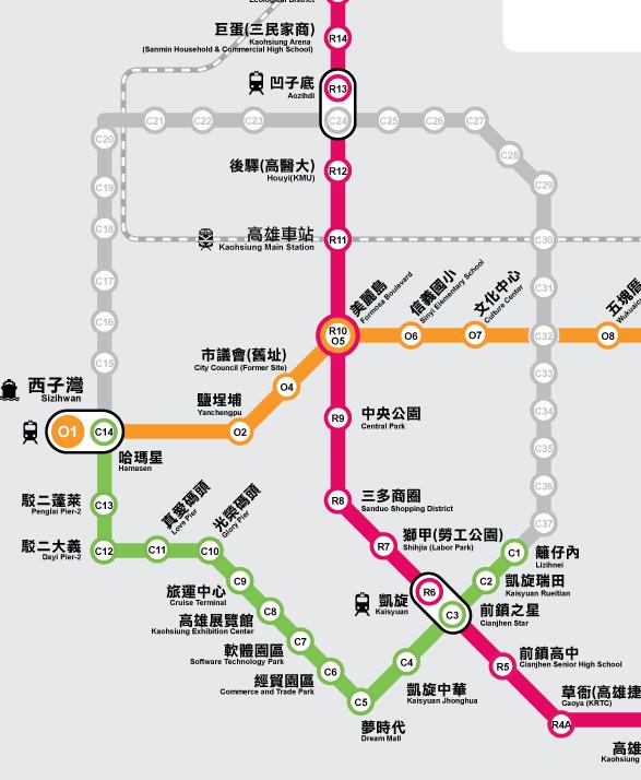 緑の路線がLRT第1期開通区間