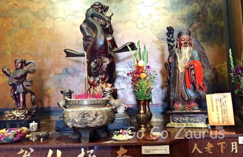 鹿耳門聖母廟の月下老人