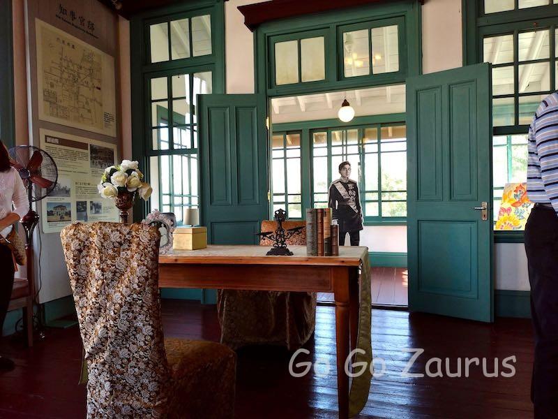 裕仁皇太子と使われたお部屋と椅子机