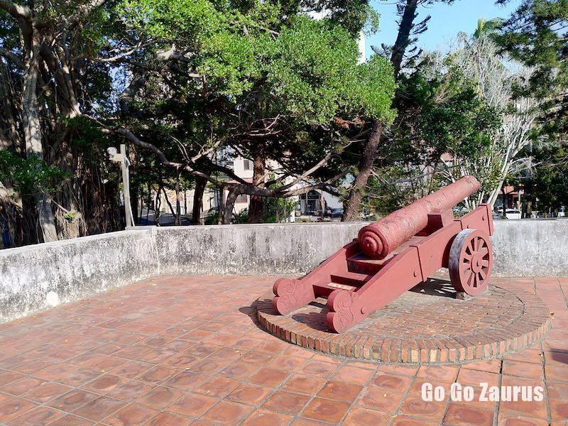 門上の大砲
