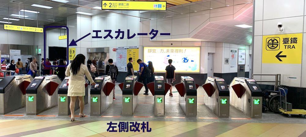 MRT高雄駅改札